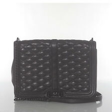 AUTH  REBECCA MINKOFF BLACK LOVE QUILT LEATHER CROSSBODY MSRP $295.00 #522L