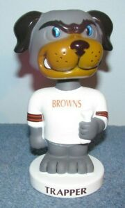 Cleveland Browns Trapper Bobblehead Dawg Pound NFL Football Mascot
