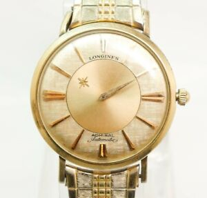 Vintage Gold GF Longines Admiral 1200 Mystery Dial Automatic Mens Wristwatch