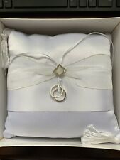 Lillian Rose White Wedding Rings Pillow Ring Bearer Pillow Wedding Ceremony