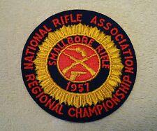 Vintage 1957 Marksmanship Patch NRA Regional Championship Small Boar Rifle Prone