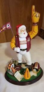 Danbury Mint Washington Redskins Christmas Santa Claus Number 1 Fan Figurine