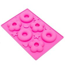 Thy Collectibles Soft Silicone Ice Cube Tray Ice Maker Mold Donuts Mold Cake.