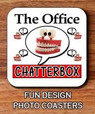 The Office Chatterbox Funny Novelty Glossy Mug Square Hardboard Coaster 9 x 9 cm