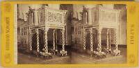 Italia Ravello Cattedrale c1865 Foto Sommer Stereo Vintage Albumina