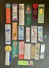 Vintage Book Markers lot 25 Paper Book Markers, Reading Miscellaneous Designs.