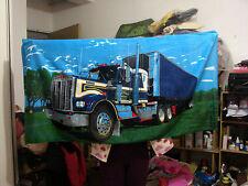 Big Size 145x70CM Green Truck/Wagon Beach Bath Towel NEW