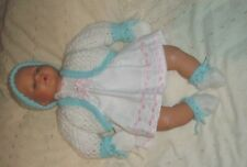 "B.N. CUTE BLUE & WHITE SET FOR BABY ANNABELL OR SIMILAR 18""-20"" REBORN BABY DOLL"