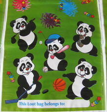 24 (3 packs) Panda Party Favor Loot Bags PLUS 8 Free Sheets of Stickers!