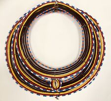 Authentic Vintage African Maasai Kenya Hand Made Beaded Necklace