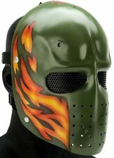 "Army of Two ""Green Flame"" Custom Fiberglass Paintball / Airsoft Mask"