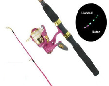 Master Fishing Rod And Reel Combo With Led Lights Pink