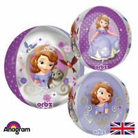 """Multisided Disney Sofia The First 15"""" Orbz Foil Licensed Balloon"""