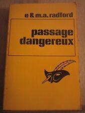 E & M.A. Radford: Passage dangereux/ Librairie des Champs-Elysées, 1971
