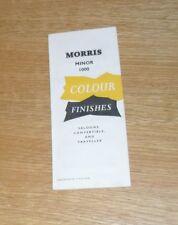 Morris Minor 1000 Exterior Colour Guide 1960 - Saloon Convertible Traveller