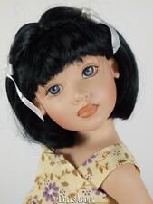 Doll Wig Off Black Size 6/7� Fits Vintage And Modern Dolls