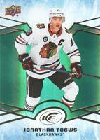 2018-19 Upper Deck Ice Hockey Green #36 Jonathan Toews Chicago Blackhawks