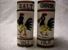 Cook Book Volumes with Rooster Salt and Pepper Shakers (S&P) set