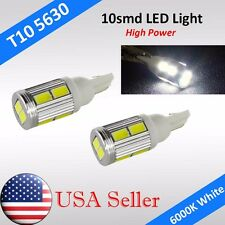 2x T10 T15 168 194 W5W Cree High Power 10smd LED Backup Reverse Light Lamp Bulb