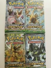 4 boosters Pokémon XY  IMPACT DES DESTINS FR neufs scellés Artset