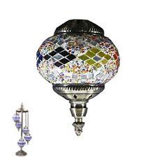 Hecho a Mano de Turquía Marroquí Mosaico Brillante Lámpara de Pie 5 Mediano Bola