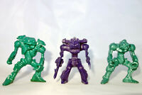 "Vintage Russian Battle Beasts Set, Lizards, Crab, 3 Action Figures, 2"" Tehnolog"