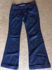 Highway Jeans Dark Wash Fit & Flare Size 9 EUC Juniors Vintage 90's