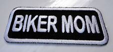P1 Biker Mom Motorcycle Motorbike Iron on Patch Mother