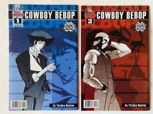 Cowboy Bebop #1 VF & #3 F/VF Tokyopop 2002 First Spike, Jet, Faye, and Ed