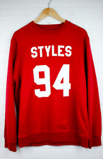 STYLES 94 Unisex One Direction Red Pullover Sweatshirt Sweater Graphic Print XL