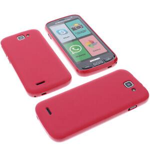 Custodia Per Brondi Amico Smartphone Protezione Cellulare TPU IN Gomma Rossa