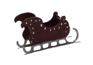 Dollhouse Miniature 1:144 Scale Holiday Christmas Santa's Sled Kit