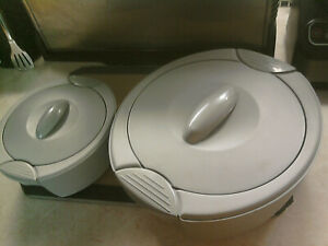 2 Thermal insulated serving dishes