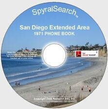 CA - San Diego Extended Area 1971 Phone Book CD - Searchable