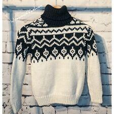 ZARA Boys Chunky Knit Turtleneck Sweater Size 7 years
