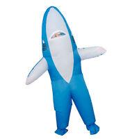 Adult Teen Unisex Shark Inflatable Halloween Costume Cosplay Jumpsuit