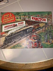 Vintage 1949 American Flyer Erector Catalog