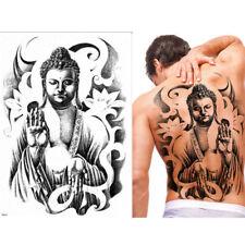 BUDDHA TRIBAL FULL LARGE BACK TEMPORARY TATTOO FOR ADULT  MEN & WOMEN