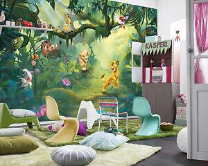 Lion King Wall Mural photo Wallpaper for kids baby room 368x254cm Disney NO GLUE