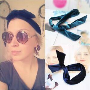 Long Velvet Headband Flexible Hair Tie Ponytail Holder Scrunchie
