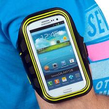 Sport Armband Tasche f BlackBerry Z10 Jogging Fitness Rad neon grün