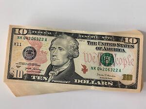 85 - 2017 TEN DOLLAR $10 Notes CRISP UNCIRCULATED