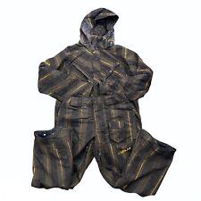 Volcom Nimbus Snowboard Snow Pants Jacket Brown/Gold Youth Size L