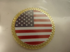 American Flag Golf Ball Marker Gold Finish