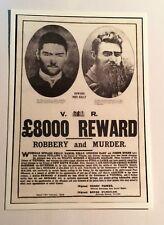 "NED KELLY Old ""8000 Pound Reward"" From Original poster, Post Card. Bushranger"