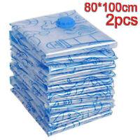 2Pcs / Set Space Saver Saving Storage Bags Vacuum Seal Compression Organizer Bag