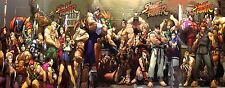 Street Fighter Classic - Huge Wall  Poster - 35.5 in x 14in - Fast Shipping
