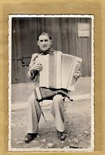 Cpa Carte Photo Accordéonniste Accordéon Lorganola Musique vq02