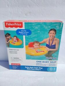 Fisher Price Swim Safe Triple Ring Baby Seat Step A 0-1 Preschool Inflatable New