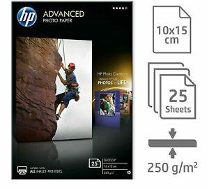 HP Advanced Photo Paper 25 Sheets 250gsm Glossy 10 x 15cm inkjet printers Q8691A